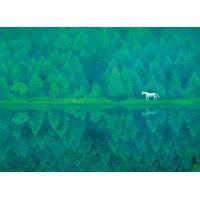 【送料無料】プリハード 複製画 東山魁夷 緑響く 6号特寸 額外寸法(52×64cm) 1016