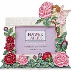 〔ギフト〕ユーパワー Flower Fairies フラワーフェアリーズ ハンドペイントフォトフレーム L判 「ローズフェアリー」 FF-02522