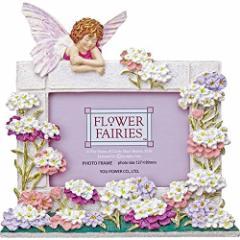 〔ギフト〕ユーパワー フラワーフェアリーズ ハンドペイントフォトフレーム L判 「キャンディタフトフェアリー」 FF-02521