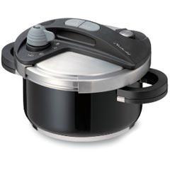 【送料無料】ワンダーシェフ IH対応 両手 圧力鍋 3.5L ブラック 670045