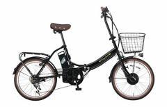 Raychell(レイチェル) 20インチ 電動自転車 FB-206R-EA 6段変速 グリップシフト フロントLEDライトブラック [メーカー保証1年]...