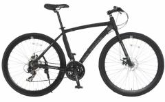 【送料無料】DOPPELGANGER(ドッペルギャンガー) 700C×28C クロスバイク D8 Black Ice 21段変速 ブラック アルミ