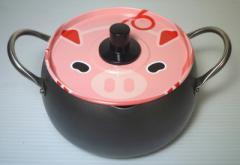 【送料無料】 日本製 アニマル天ぷら鍋こぶた 18cm