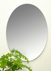 【送料無料】割れない鏡!安心・安全!セーフティミラー楕円小 高さ37.5×幅28.5cm_