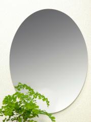 【送料無料】割れない鏡!安心・安全!セーフティミラー楕円大 高さ43×幅34cm_