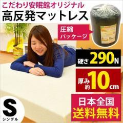 【送料無料】理想の寝姿勢をサポートする ブラックシャドー マットレス シングル 約100×200×(厚み)10cm  高反発  【ブラウン 訳あり】