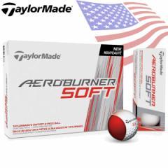 テーラーメイド エアロバーナー ソフト ゴルフボール 1ダース(12p) TaylorMade BURNER SOFT US直行便