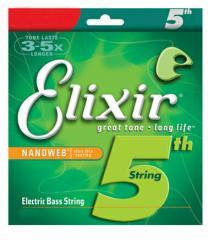 Elixir/5弦用ベース弦(バラ弦) NANO WEB【エリクサー】