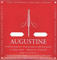 AUGUSTINE(オーガスチン) 「RED SET(レッド:ミディアムテンション)×1セット」 定番クラシックギター弦ブランド