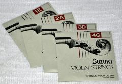 鈴木バイオリン「4/4、3/4サイズ用バイオリン弦セット」×1セット【送料無料】:78322-78325...44-43-1set