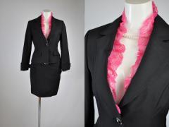 【送料無料】即納 9号/11号 背抜きジャケット&スカートスーツ リクルート・ビジネスでアピール 2Wayスーツ ミニスカートスーツ