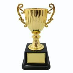 トロフィーカップ(小)プレートシール付きミニトロフィー金・銀 パーティーやイベントに!ゴールド・シルバー【メール便不可】
