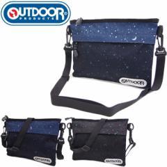 OUTDOOR PRODUCTS/アウトドア サコッシュ メンズ/レディース サコッシュバッグ ショルダーバッグ 斜めがけバッグ 全3色 OUT317 夜空柄 星