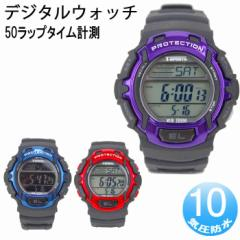 ランニングウォッチ  クレファー CREPHA 腕時計 メンズ TS-DO18 50ラップ計測可能 デジタルウォッチ スポーツウォッチ レディース