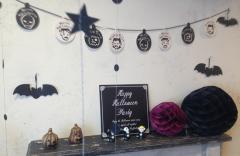 ハロウィン グッズ 雑貨 飾り グリッターオーナメント コウモリ 4枚入り 大小2枚ずつ ハロウイン イベント ハロウィーン halloween
