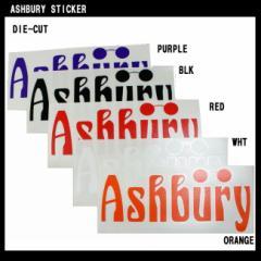 ステッカー ASHBURY DIE CUT STICKER 25cm x 11cm カッティングタイプ アシュベリー スノボー スノーボー