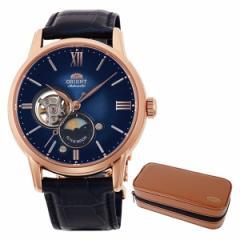【セット】【腕時計】[オリエント]ORIENT RN-AS0004L [クラシック]CLASSIC メンズ SUN&MOON ペアモデル【限定】&腕時計ケース
