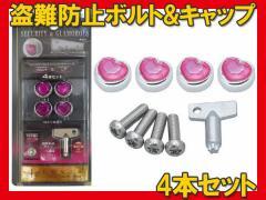 カーメイト ナンバープレートの盗難防止に ボルト+キャップブリリアントセット LS314/