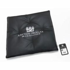 レザークッション ブラック/シルバー 45×45cm JUNCTION PRODUCE MISSIONS/ジャンクション プロデュース:GM034102
