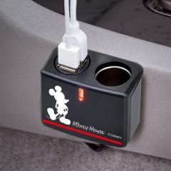 セイワ:イルミソケット+USB ディズニー ミッキ...