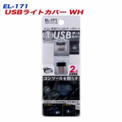 メール便可|USBポートカバー 2個 車内照明 ホワイトLED PCにも使用可能 星光産業 EL-171