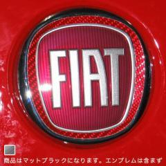 【メール便対応】HASEPRO/ハセプロ:マジカルカーボン フロント エンブレム フィアット マットブラック/CEFF-1D