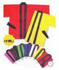 【カラーはっぴ】 子供用 (大)【お祭りにも最適】