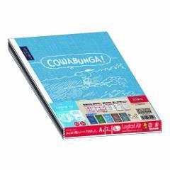 【ナカバヤシ】ロジカルエアー B5ノート スヌーピーシンプルデニム柄 A罫 5冊パック