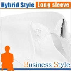 ボタンダウン 長袖ワイシャツ ビジネス フォーマル メンズ Yシャツ[レギュラーカラー][ワイドカラー][クレリック]