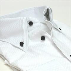 【お一人様1枚限り】ボタンダウン 長袖ワイシャツ メンズ Yシャツ ビジネス クールビズ 白 黒 [ドレスシャツ][白シャツ]