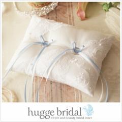 リングピロー クラシカル(完成品)クリアボックス付き/ ウエディング 結婚式 小物 ファーストピロー ウェディング サムシングブルー