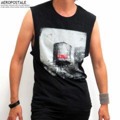 エアロポステール タンクトップ Tシャツ メンズ Brooklyn Calling N.Y.C AEROPOSTALE 6004-5840-001 ブラック