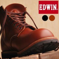 本革 オイルレザー ワークブーツ メンズ EDWIN エドウィン BL302【SHA】