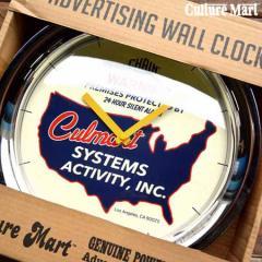 壁掛け時計 レトロ CULTURE MART カルチャーマート ウォールクロック 101059-8 WARNING【Y_JE】