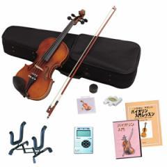 【送料無料/代引不可】 Hallstatt(ハルシュタット) バイオリン 初心者入門 10点セット(サイズ:4/4) 教則本&DVD付属でわかりやすい