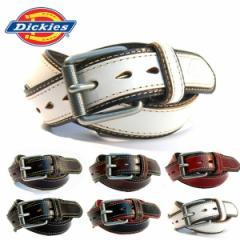 Dickies ディッキーズ 四角スクエアバックル 本革ベルト ステッチ 四角バックル レザー 皮 スーツにも ビジネスベルト メンズ(全6色)