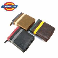ディッキーズ 財布 Dickies 小銭入れ 二つ折り財布 ウォレット 小銭入れ 札入れ ツーライン PUレザー (全3色)