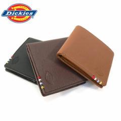 ディッキーズ 財布 Dickies 二つ折り 財布 PUレザー メンズ レディース ウォレット ユニセックス ギフト プレゼント(全3色)
