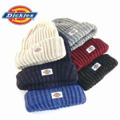 ディッキーズ ニットキャップ Dickies ニット帽子 ロゴ メンズ レディース ユニセックス ミックスリブ  スノボ スキー(全6色)