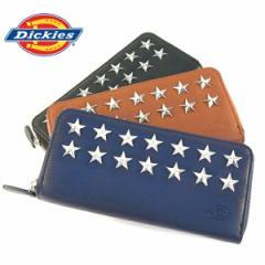 ディッキーズ 財布 Dickies ラウンド財布 スタースタッズ オールファスナー財布 束入れ メンズ レディース ロングウォレット (全3色)