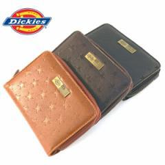 ディッキーズ 財布 Dickies ラウンドファスナー スターエンボス コンパクト ウォレット メンズ レディース ユニセックス (全3色)
