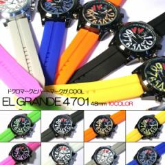 送料無料 ポイント10倍 (定形外郵便配送可能/3個まで) ビックフェイス腕時計 ドクロ ハートマーク メンズ腕時計 レディース腕時計