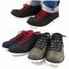 トレッキングスニーカー メンズ スニーカー アウトドア 靴 カジュアルシューズ (2色/ブラック カーキ) 2足購入送料無料