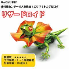 (送料無料)エリマキトカゲ型ロボ リザードロイド メカ工作ロボットキット はんだ付け不要な工作キット MR-9104(4952682106586)