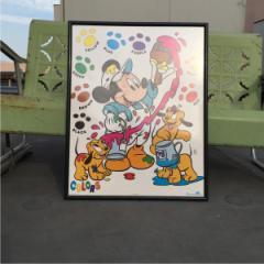 ~90年代 ディズニー MICKEY MOUSE ミッキーマウス USA製 ポスター The Walt Disney Company 【古着屋JAM】 160907 /god0021