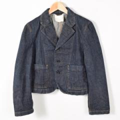 コムデギャルソン 濃紺 デニムテーラードジャケット レディースM COMME des GARCONS 【170203】 /wez4263