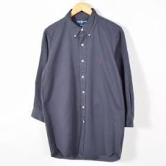 JAMリメイク ラルフローレン ボタンダウン 長袖 リサイズ ロングシャツ メンズS レディースL Ralph Lauren /wab4891