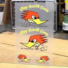 クレイスミス ステッカーセット 車 アメリカン キャラクター バイク ヘルメット Clay Smith 転写タイプ イエローロゴ_SC-CSYC008-MON