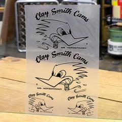 クレイスミス ステッカーセット 車 アメリカン キャラクター バイク ヘルメット Clay Smith 転写タイプ ブラック_SC-CSYC015-MON