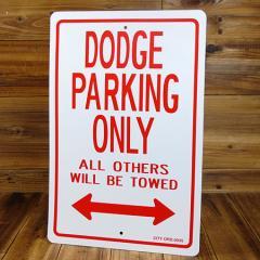 パーキングサインプレート(案内表示板) ダッジ(DODGE)専用駐車場 サイズL_SP-IGPPS0035D-MON
